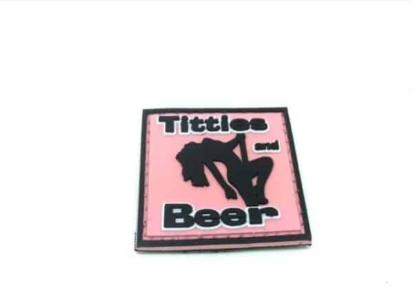 Titties and Beer morale patch (Pink)