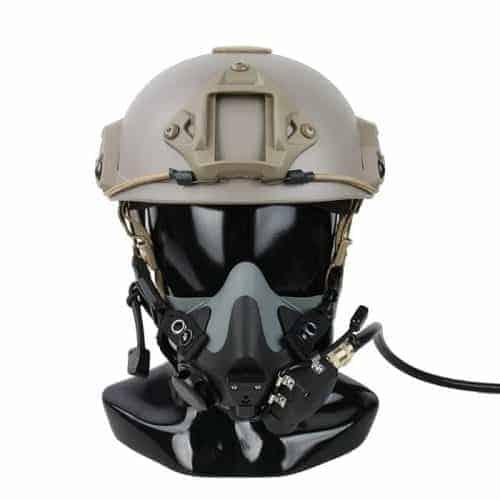 TMC PHT Halo Air mask helmet mounted