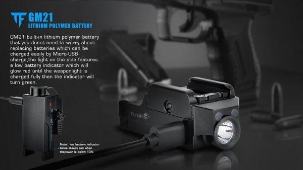 Trust Fire Rechargeable GM21 Pistol Light