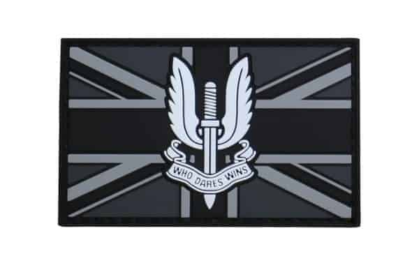 SAS UK Flag black subdued patch