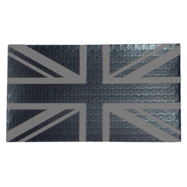 Union Flag IR reflective velcro patch (Black)
