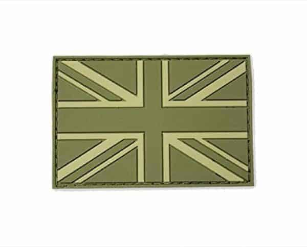 Union flag subdued morale patch (Green)