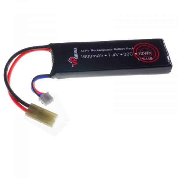 vapex 1600 7 4v battery 30c Vapex 7.4V 1600mAh 30C/60C LiPO Airsoft Battery