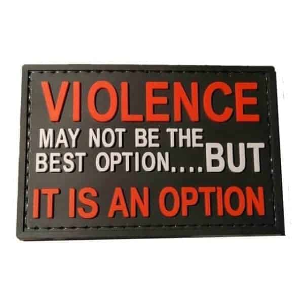 Violence may not be the best option morale patch