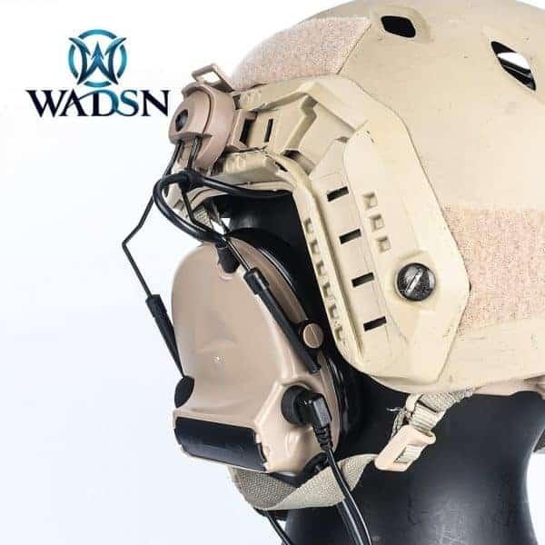 Wadsn Comtac II (Basic) headset with helmet adapter - DE