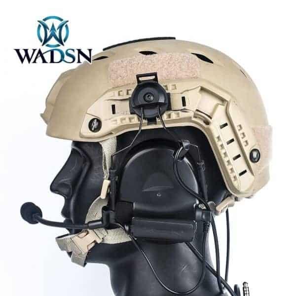 Wadsn Comtac II (Basic) headset with helmet adapter - Black