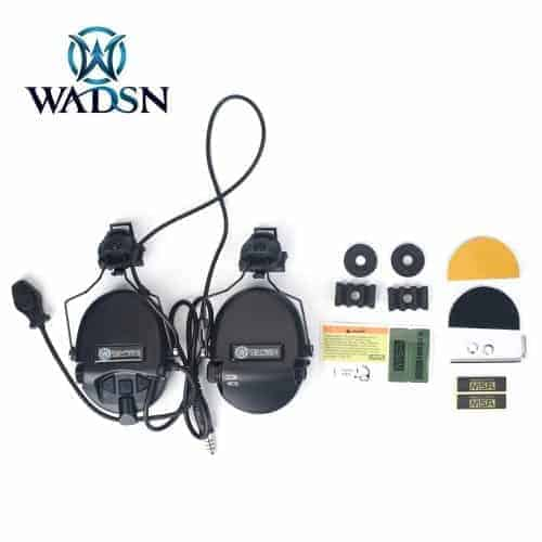 Wadsn Noise Canceling Headset With Helmet Adapter - Black