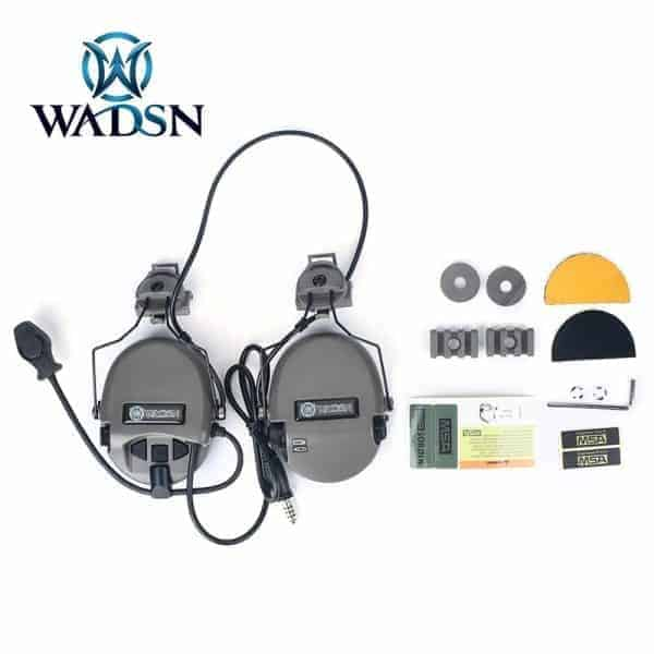 Wadsn Noise Canceling Headset With Helmet Adapter - FG