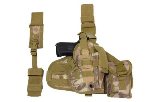 WBD dropleg holster molle panel w/ pouch (Nomad)