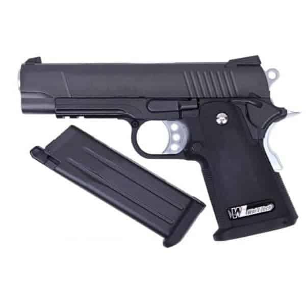 WE Hi-Capa 4.3S GBB Pistol (Black)