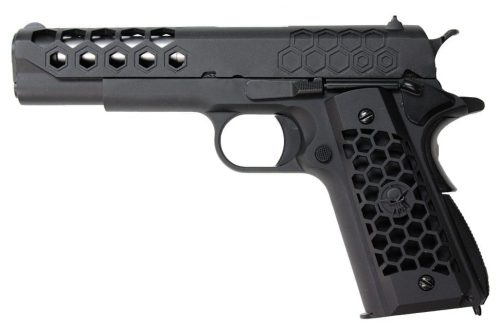 WE 1911 Hex Cut GBB Pistol - Black