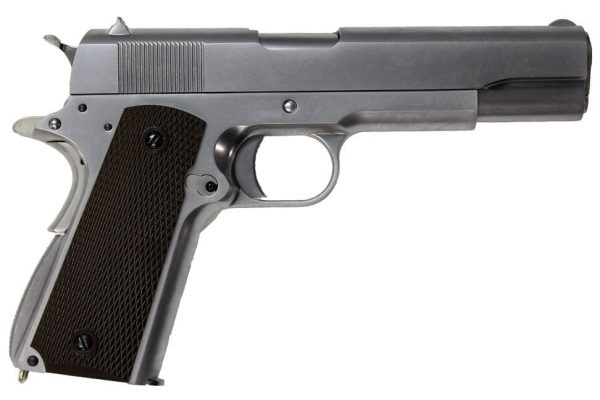 WE M1911 Full Metal Airsoft Gas Blowback Pistol (Silver)