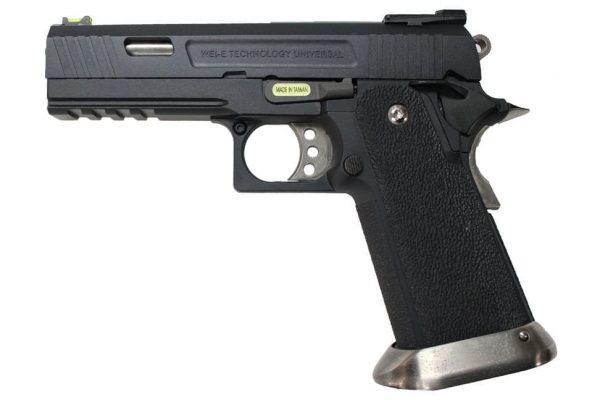 WE Hi-Capa Force 4.3 GBB Pistol 'Ruled' (Black)