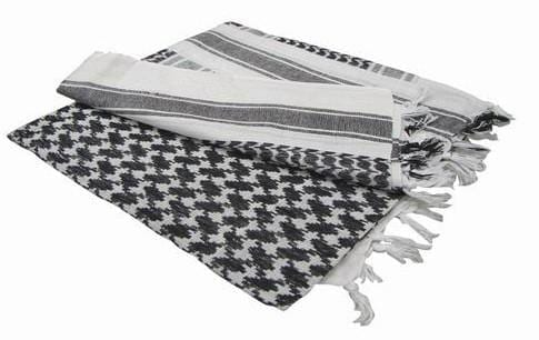 Shemagh Headscarf - White And Black