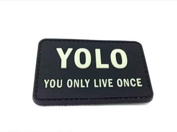 YOLO you only live once morale patch (Black)