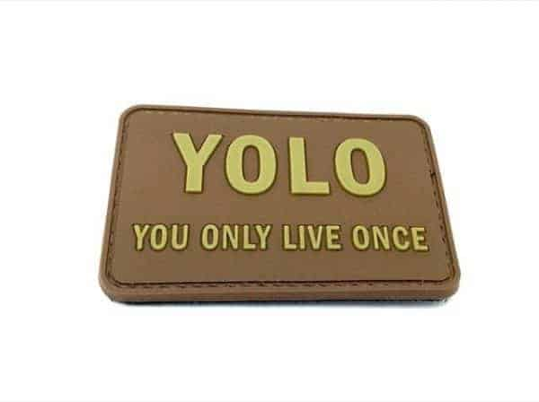 YOLO you only live once morale patch (Coyote)