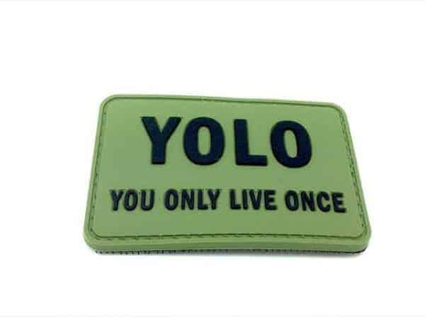 YOLO you only live one morale patch (Green)